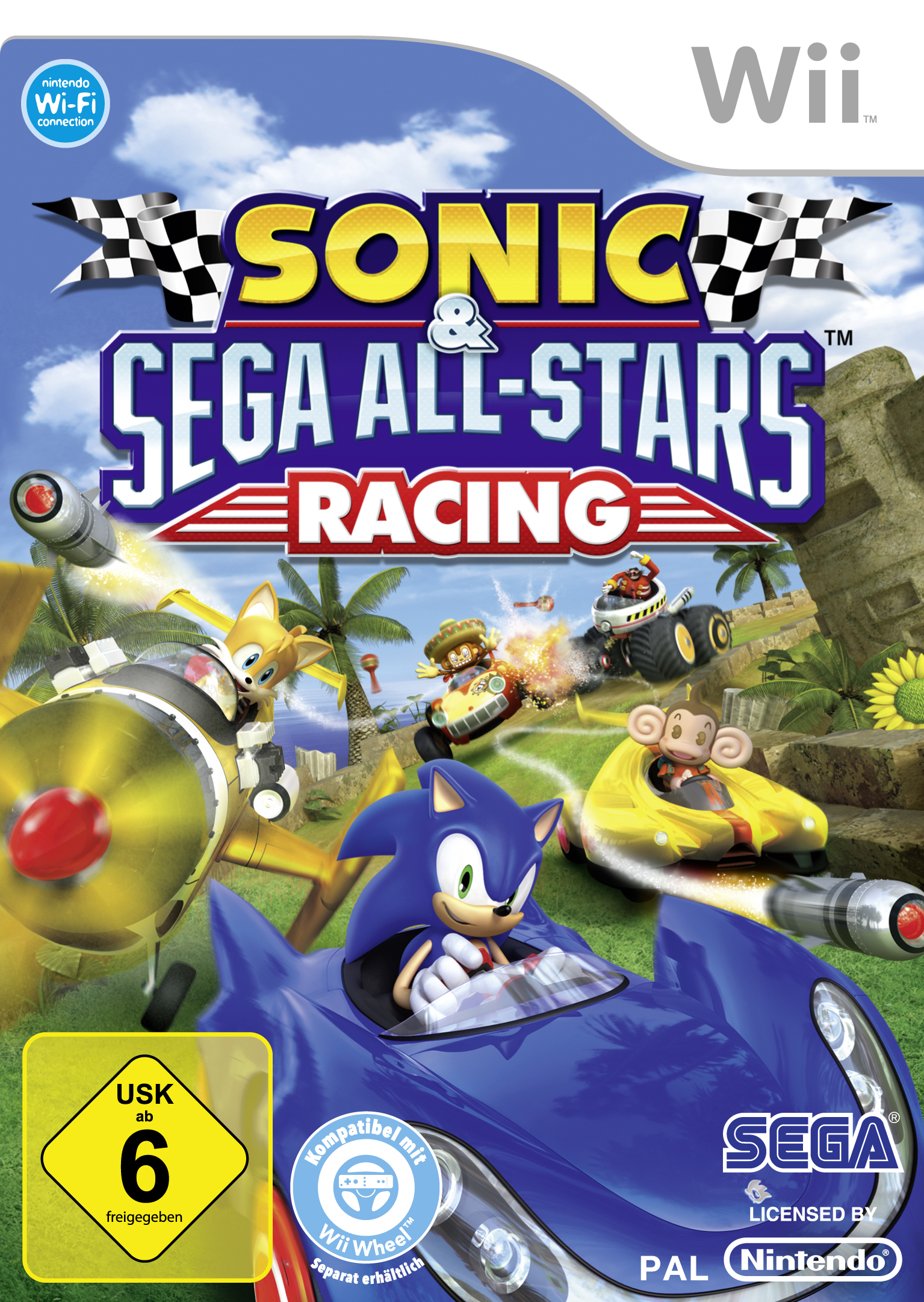Sonic And Sega All Stars Racing - Para Wii